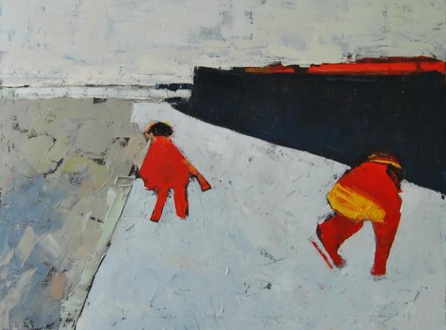 De schaatsers