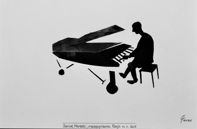"""Davide Martello. speelt """"Image"""" in Parijs 14.11.2015"""