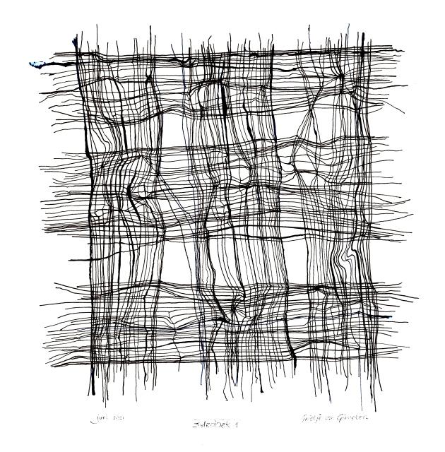 zieledoek 2 - 38 x 38 cm.